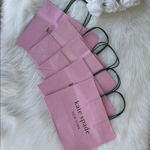 5 medium size kate spade shopping bags